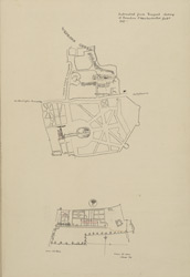 [Drawn Extracts from Rocque's Survey of London and Westminster and Jones's plan of the Craven Hill Estate]